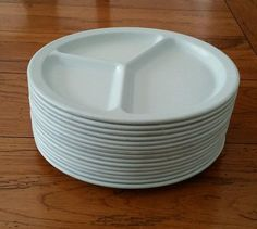Texas Ware DIVIDED CAFETERIA PLATES Mint Green by TheSellingNest