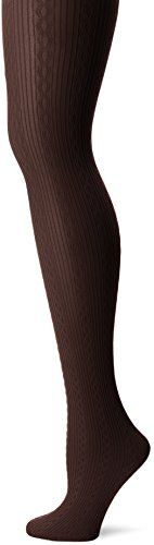 Women's Cable Knit Tights with Control Top