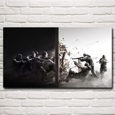"""""""The Bloody Attack"""" Rainbow Six Siege Canvas Wall Art"""