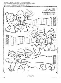 Crafts,Actvities and Worksheets for Preschool,Toddler and Kindergarten.Lots of worksheets and coloring pages. Winter Activities, Christmas Activities, Preschool Activities, Tracing Worksheets, Worksheets For Kids, Pre Writing, Winter Theme, Winter Sports, Coloring Pages