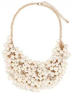 Pearl Bib Necklace - so pretty!
