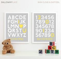 Baby Boy Nursery Decor Boys Nursery Art Prints by DallowayPlaceKids