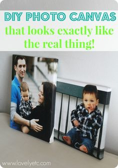 DIY photo canvas that looks just like the real thing