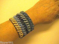 Multi Beaded Bracelet Handcrafted Hippie Chick Look