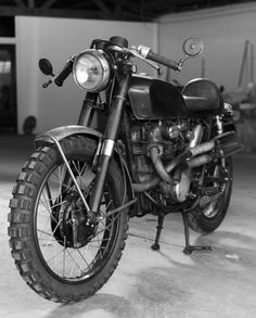 """Honda CL350 motorcycle built by GLORY Motor Works for the film, """"The Girl with the Dragon Tattoo"""""""