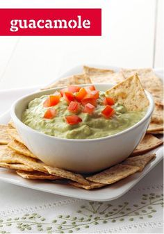 Guacamole — The only guac recipe you'll ever need. Four ingredients, 10 minutes and the party's most popular dip is done. Don't forget the lime—its zing makes the difference.
