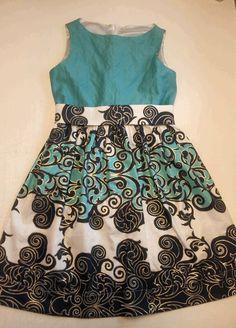 Girl's Summer Dress made by HF-R / fabric Eurokangas