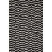 Found it at Wayfair - Dash & Albert Woven Diamond Black/Ivory Indoor/Outdoor Rug - for stairs & entry!