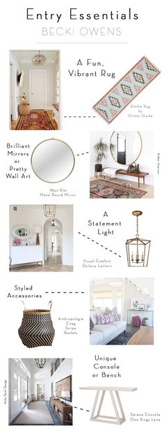 Small Foyer Inspiration : How to make your home look less cluttered interior