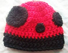 Little Ladybug Beanie  MADE TO ORDER by skylay on Etsy, $16.00