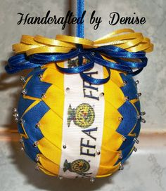 FFA ~ Quilt looking fabric ornaments made by Handcrafted by Denise
