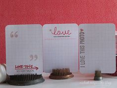 Making personalized journaling cards with stamping (using the blank grid cards).
