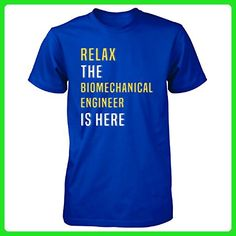 Relax The Biomechanical Engineer Is Here. Funny Gift - Unisex Tshirt Royal 3XL - Careers professions shirts (*Amazon Partner-Link)