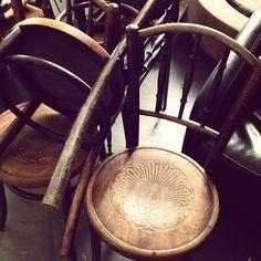 4 Fischel bentwood chairs