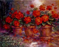 Paintings of Red Geraniums - Yahoo Image Search Results