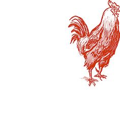 Rooster Rubber Stamp for personal stationary