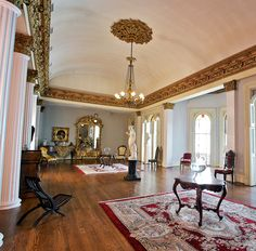 The Grand Salon at the Belmont Mansion, Nashville, Tennessee