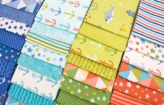 Bartholo-Meow's Reef by Tim & Beck for #modafabrics - Playful #Nautical prints, perfect for Summer #sewing projects!