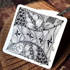 """For """"It's a String Thing"""" #152 Focus on Brrst at Square One: Purely Zentangle® Facebook group: Just a quick..."""