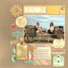 *Summer Bliss* - Scrapbook.com- made with the Summer Bliss collection from Echo Park