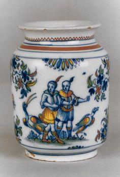 Pot en faïence à décor de Chinoiseries, Alcora 1735-60