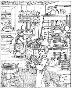 Coloring page hidden pictures Family Coloring Pages, House Colouring Pages, Detailed Coloring Pages, Coloring Book Pages, Coloring Sheets, Free Adult Coloring, Printable Adult Coloring Pages, Hidden Pictures, Colorful Pictures
