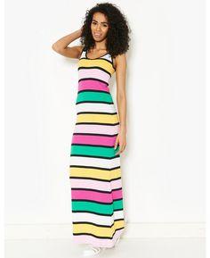 BLONDE & BLONDE Striped Maxi Dress   BANK Fashion