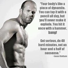 Jason Statham. That's the body I want. ~ Re-Pinned by Crossed Irons Fitness