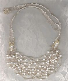Image result for freeform pearl necklace.