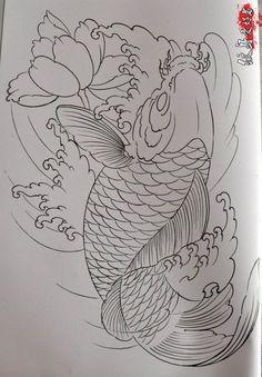 Pin by Tammy Finch on Koi - Koi tattoo design, Skull art ...