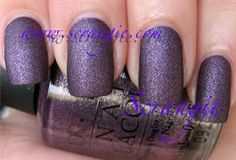 ✅ OPI: Suede Collection Fall 2009 - Lincoln Park After Dark Suede (HG!)