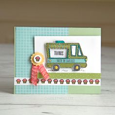 BEEP BEEP! Time for a little Tasty Trucks. This is the most darling set.  Today I'm sharing two 'sweet' truck cards (Ice Cream and Cupcakes). I kinda  of wish a cupcake truck was a real thing!Stop by later this week as I have  so many more cute samples to share made from this set, I couldn't get my  act together to post them all today. Tasty Trucks is the What Will You  Stamp challenge set for this week. Hop over to the WWYS blog to see more  cool projects using this set. You can earn this…