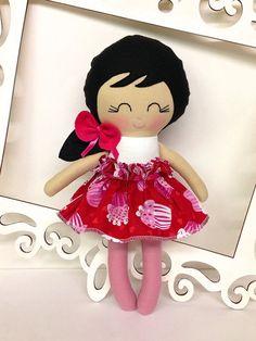 Handmade Dolls Fabric Dolls Soft Doll Cloth by SewManyPretties, $42.00
