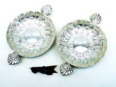 2 Large Solid Silver Quaichs Pair Sterling by DartSilverLtd