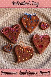 Valentine's Day Cinnamon Applesauce Heart Craft