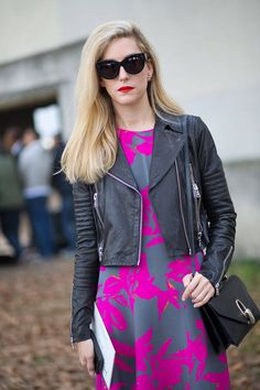 Joanna Hillman in Dries van Noten perfects street style, along these other featured women at #PFW, here: