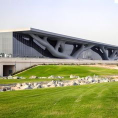 Qatar National Convention Centre, Qatar, 2013 by Pritzker Prize 2019 laureate Arata Isozaki Key Projects, Design Projects, Arata Isozaki, National Convention, Frank Gehry, Zaha Hadid, Convention Centre, Interior Exterior, Interior Architecture