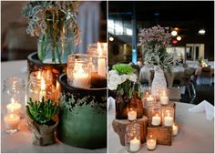 Great Candle Centerpiece For A Wedding