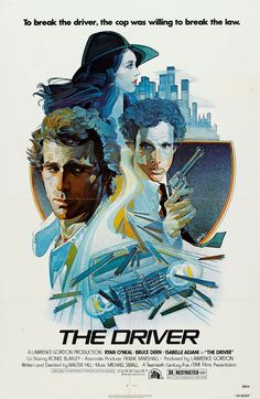 Awesome illustrated poster for, The Driver, 1978.