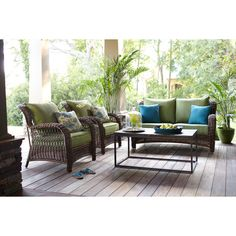 Shop allen + roth 2-Piece Belanore Brown Steel Patio Loveseat and Coffee Table at Lowes.com