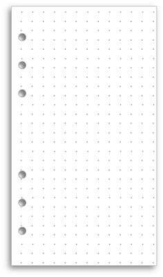 "Another great free download from My Life All in One Place: Print your own dot grid pages for the A4 and A5 Filofax. ""Of course, you don't need to put this paper in a Filofax at all. It works pretty well as loose paper for taking notes, making sketches and particularly for things like hand-drawn flowcharts."""
