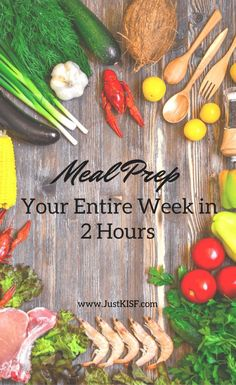 Meal prep for your entire week in just 2 hours! Spend just a few hours on the weekend and you'll save hours throughout the week! #mealprep