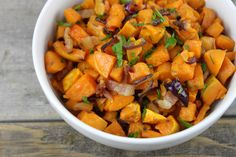 Maple-Bacon Roasted Sweet Potatoes   #justeatrealfood #simplynourishedrecipes