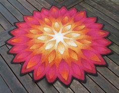 Felt Tabletop Mandala by Jana Muchalski. Felt Embroidery, Nuno Felting, Mandala Art, Textile Art, Fractals, Fiber Art, Lana, Projects To Try, My Arts