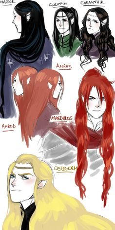 Feanorians.the blackheads, the redheads, and the blonde head.
