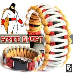 Space Ghost themed paracord bracelet available @ www.paragearz.com.