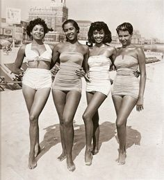 They even wore swimsuits with style and class during the 1940's.