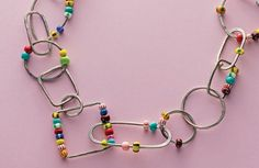 learn to make Beaded Chain by Laurel Nathanson - from How to Solder Jewelry: 4 Soldering and Pickling Questions Answered by Lexi Erickson - Jewelry Making Daily