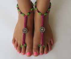 Rainbow loom Sandals