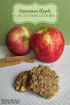 This recipe for Apple Cinnamon Lactation Cookies is full of whole oats, flax meal and brewer's yeast to support lactation and tastes delicious!